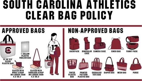 Colonial Life Arena Clear Bag Policy